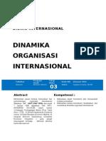 MODUL 3 BI (Dinamika Organisasi Internasional)