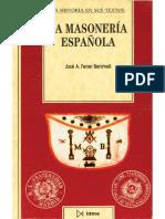 Ferrer Benimeli, José a. - La Masonería Española