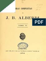 Alberdi, Juan Bautista. Obras Completas (Vol. VI)