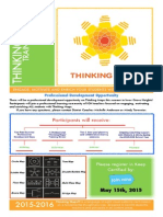 thinking maps - summer training flyer