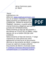 Licencia Cc / word y excel
