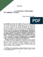Gramsci y Las Culturas Populares en America Latina - G. Canclini