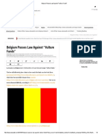 Belgium Passes Law Against _Vulture Funds