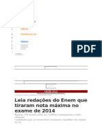 Redacoes 10 Do Enem 2014