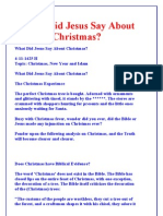 What Did Jesus Say About Christmas?