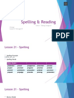 unit 5 -spelling and reading - lesson 21 to 25