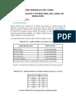 Criterios de Diseño Hidraulico Del Canal