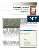 Medical Device Validation - How Vendors Can Assist