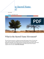 What is the Sacred Name Movement