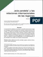 Diplomacia Paralela y Las Relaciones Internacionales de Las Regiones