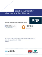 Information Based Interventions Injury Recovery Rapid Review