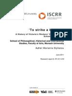 018 to Strike a Balance - WorkSafe History