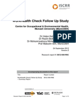 008 Work Health Check Folllow Up Study