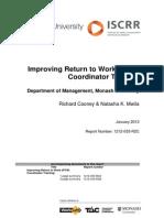 033 RTW Coordinator Training Evaluation