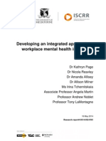 052 Developing an Integrated Approach to Workplace Mental Health - Final