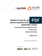 057 Models of care for people with severe acquired brain injury ABI Systematic Review
