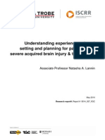 057 Understanding experiences of goal setting and planning for patients with severe acquired brain injury and their carers  2014