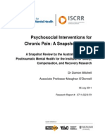 022 Psychosocial Interventions for Chronic Pain
