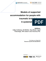 022 Models of supported accommodation for people with traumatic brain injury