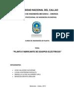 Planta Fabricante de Equipos Electricos