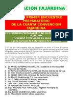 FEDERACIÓN FAJARDINA  IV CONVENCIÓN