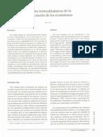 Aspectos Termodinamicos de La Estructura de Ecosistemas