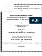 It Siwes Technical Report by Nwankwo Jephthah t k Department of Geoinformatics and Surveying Unn