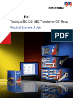 Test Universe Differential Module Application Note Example of Use Transformer ENU