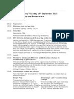 Henley Forum DRAFT Agenda - 17 Sep 2015