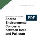 Shared Environmental Concerns between India and Pakistan