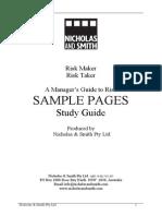 Sample Risk Maker Risk Taker Guide