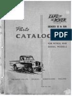 Land Rover Series II & IIA Parts Catalogue