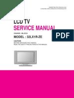 LG 32LX1R ZE Chassis ML-051A Lcdsv