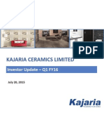Investor Update Q1 FY16 [Company Update]