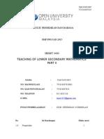 TEACHING OF LOWER SECONDARY MATHEMATICS  PART II
