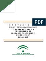 Dossier Prevención Drogodependencias 2014_2015