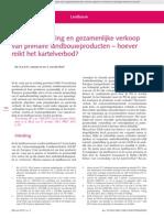 Aanbodbundeling en gezamenlijke verkoop van primaire landbouwproducten - hoever reikt het kartelverbod?