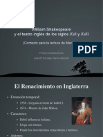 William Shakespeare y El Teatro Ingles