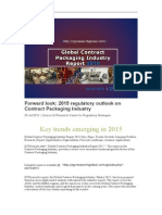 2015 regulatory outlook on Contract Packaging Industry