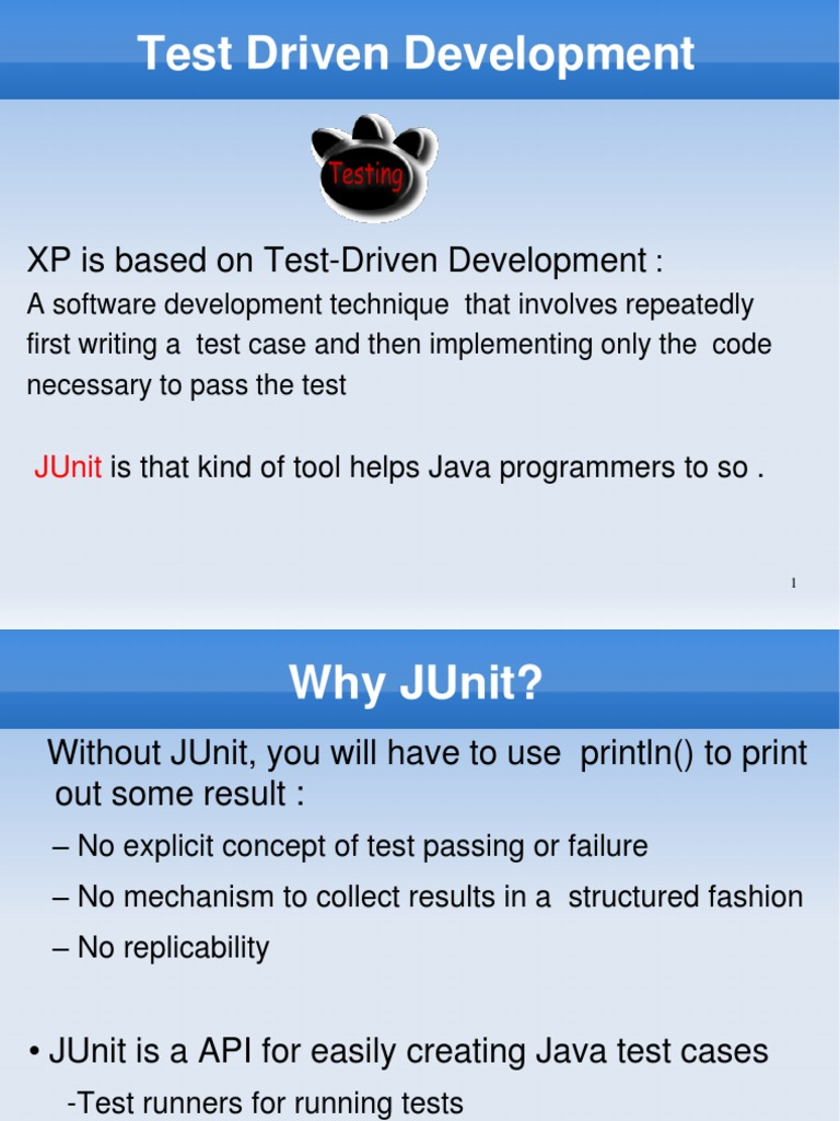 Junit tutorialpdf test driven development object computer junit tutorialpdf test driven development object computer science baditri Images