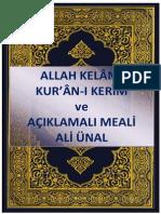 Kurani Kerim Ve Aciklamali Meali_Ali Unal