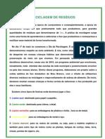 APOSTILA DE RECICLÁGEM