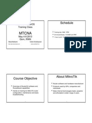 MTCNA-Course pdf | Ip Address | Proxy Server