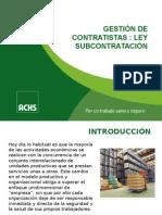 Gestión de Contratistas - Ley Subcontratacion p