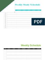 Weekly Schedule Copy