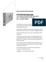 ComNet FVT10D1EM Instruction Manual