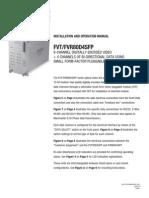 ComNet FVT80D4SFP Instruction Manual