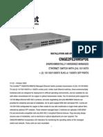 ComNet CNGE2FE24MSPOE Instruction Manual