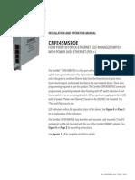 ComNet CNFE4SMSPOE Instruction Manual