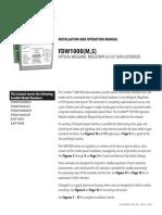 ComNet FDW1000MC Instruction Manual